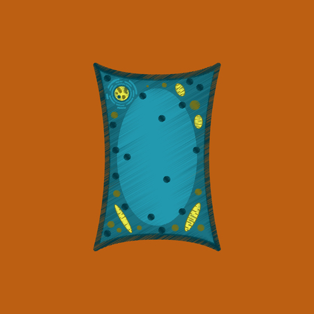 flat shading style icon plant cell