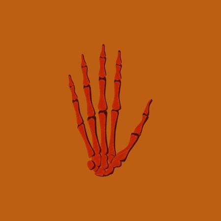 flat shading style icon wrist bone Illustration