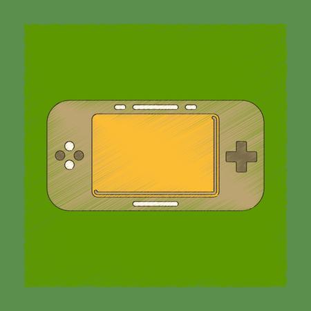 joy pad: flat shading style icon game console