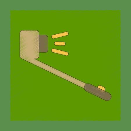 flat shading style icon selfie stick Ilustração