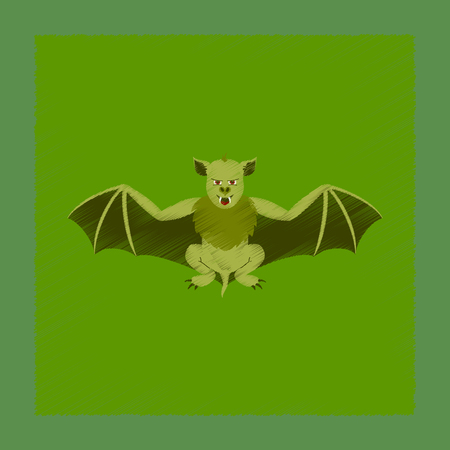 vampire bats: flat shading style icon cute bat Illustration