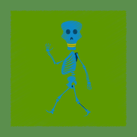 undead: flat shading style icon skeleton Halloween monster Illustration
