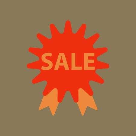Flat icon of sale label Illustration
