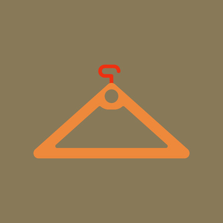 hangers: Flat icon of hanger