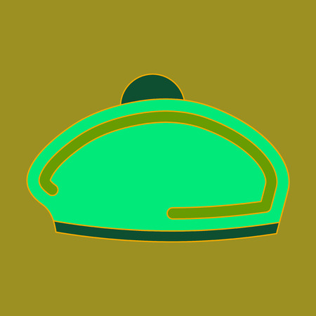 Icon in flat design golf beret