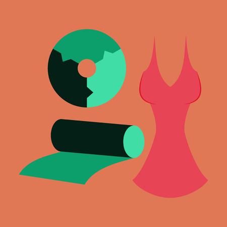 flat icon on stylish background Fabric diagram