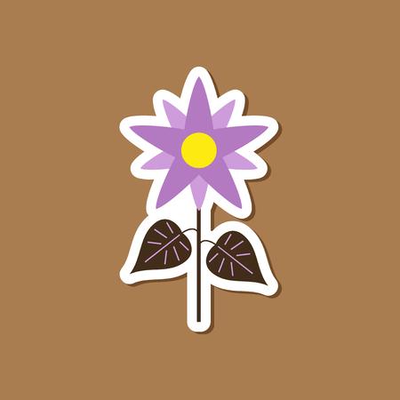 paper sticker on stylish background flower