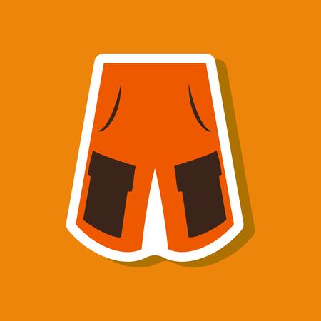 paper sticker fashion clothes shorts