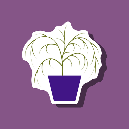 paper sticker plant in a pot