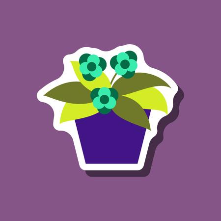 paper sticker on stylish background geranium
