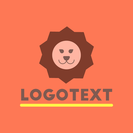 silueta de gato: flat icon on background lion logo