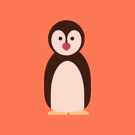 flat icon stylish background Emperor penguins