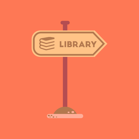 flat icon on background sign library