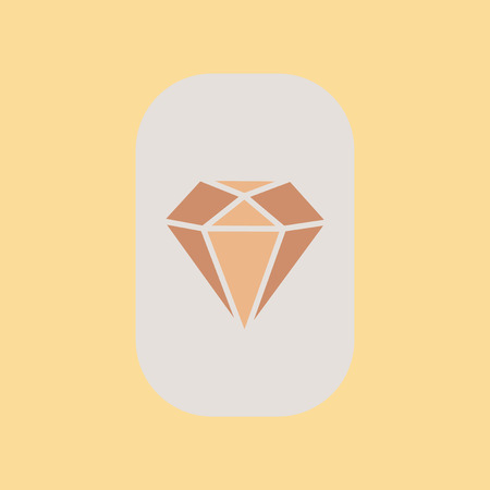 karat: flat icon on stylish background poker diamond Illustration