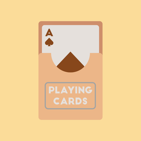 flat icon on stylish background playing cards