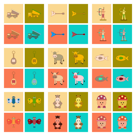 ladybird: assembly flat icons Kids toys
