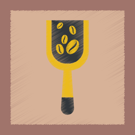 flat shading style icon coffee Scoop