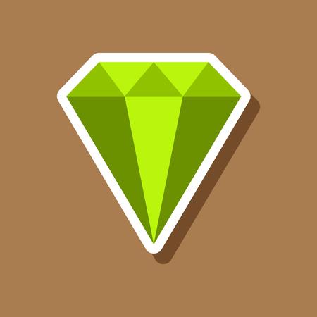 paper sticker on stylish background diamond jewelery Reklamní fotografie - 82858080