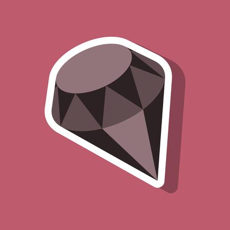 paper sticker on stylish background diamond jewelery Reklamní fotografie - 82803152