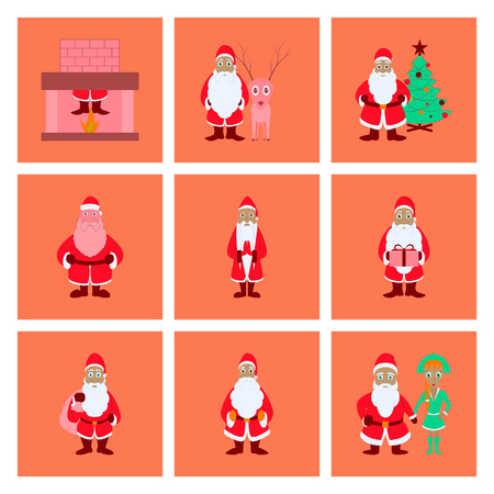 assembly flat illustration Santa Claus Illustration