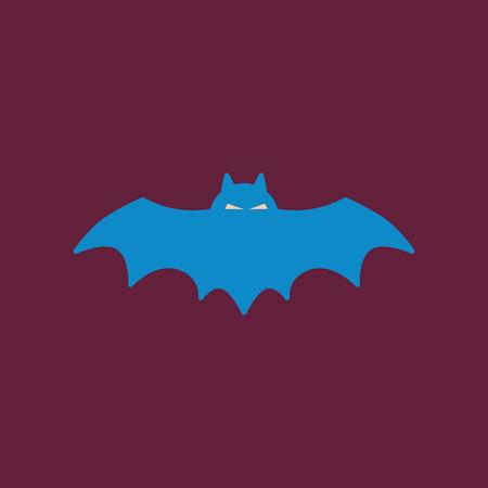 vampire bats: flat icon on background halloween bat Illustration