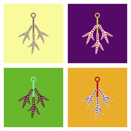 assembly flat icons halloween chicken feet Иллюстрация