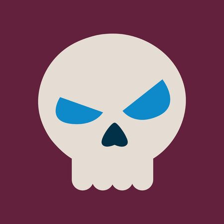 paranormal: flat icon on background halloween emotion skull Illustration