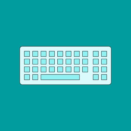 flat icon on background computer keyboard Illustration