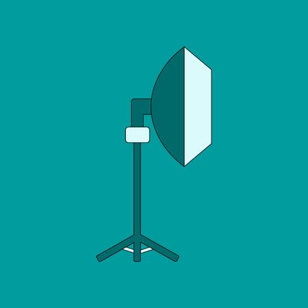 flat icon on background professional lighting