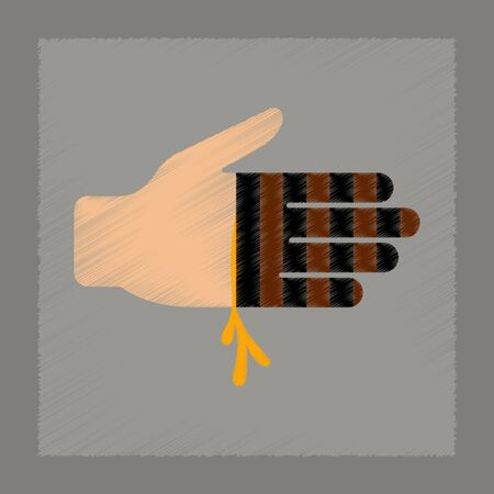 paranormal: flat shading style icon bloody hand