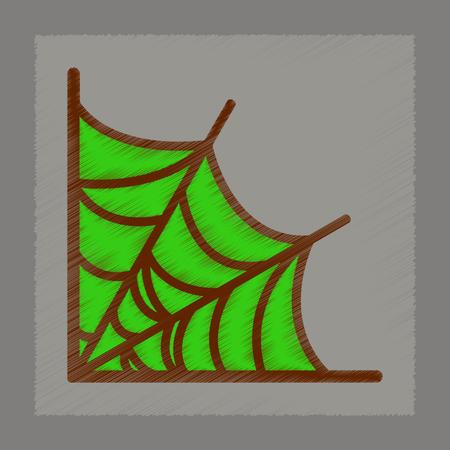 flat shading style icon spider web