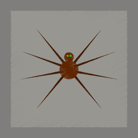 flat shading style icon halloween spider Stock Vector - 83140557