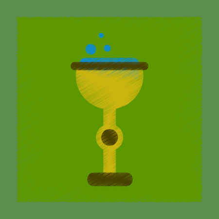 flat shading style icon cup potion
