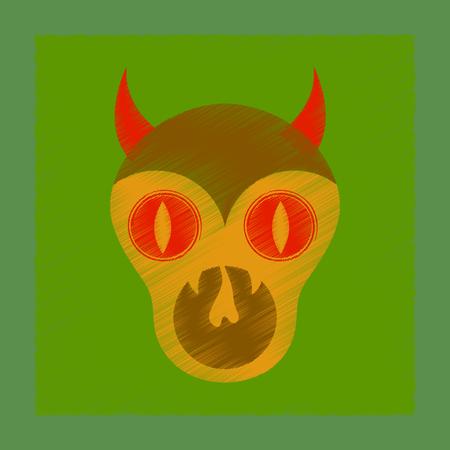 flat shading style icon halloween monster Illustration