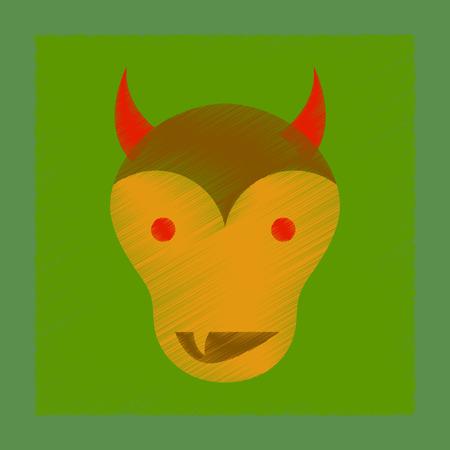 flat shading style icon of halloween monster Illustration