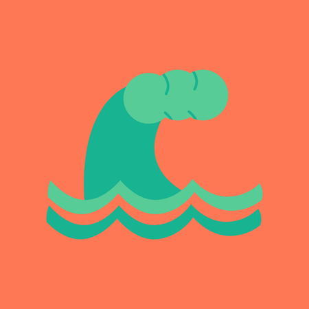 flat icon on stylish background nature tsunami