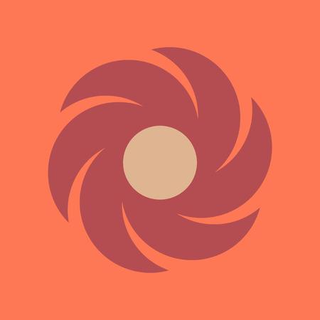 weathercock: flat icon on stylish background weather vane Illustration