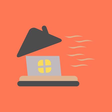 flat icon on stylish background storm the house Imagens - 83502640