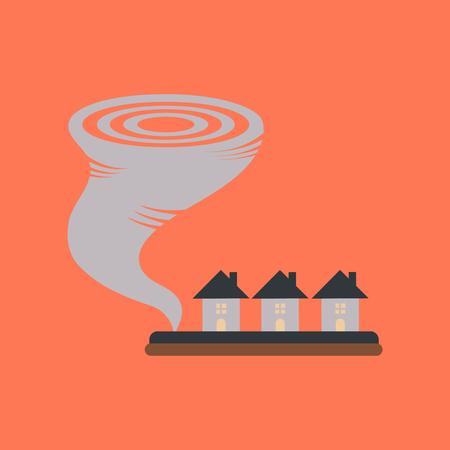 flat icon on stylish background disaster tornado
