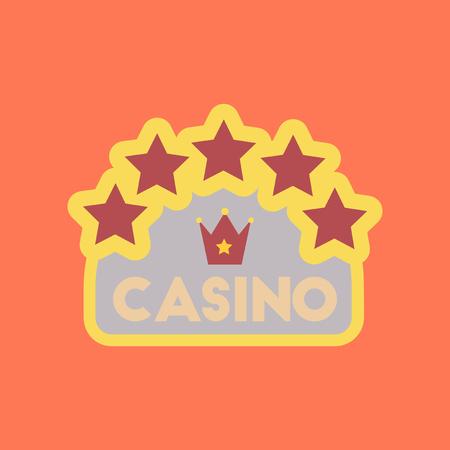 flat icon stylish background poker casino sign Illustration