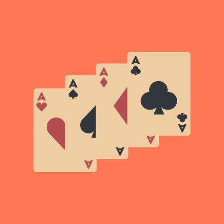 flat icon on background poker playing card