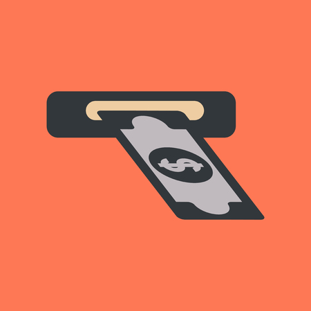 flat icon on background dollar money