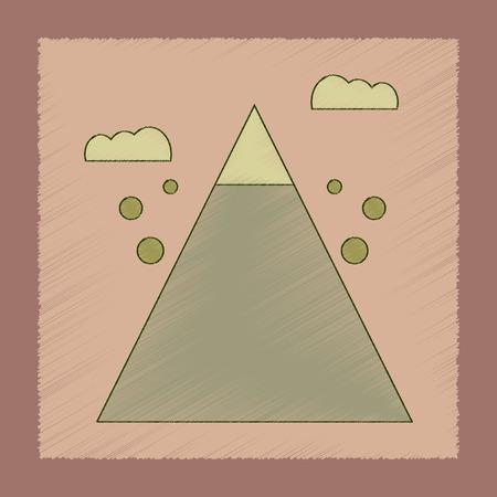 flat shading style icon Mountain stones fall