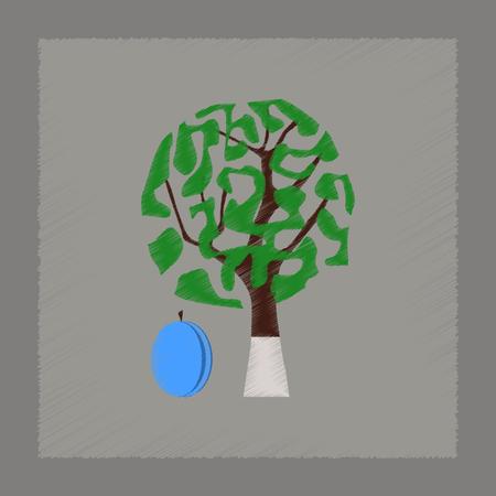 homeopathic: flat shading style Illustrations plant Prunus
