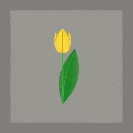 flat shading style Illustrations of plant Tulipa Ilustração