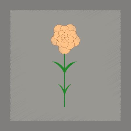 flat shading style Illustrations of plant Dianthus Illustration