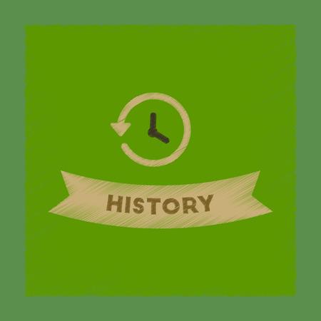 flat shading style icon history lesson