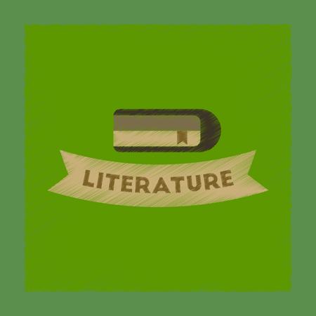 poems: flat shading style icon Literature lesson Illustration