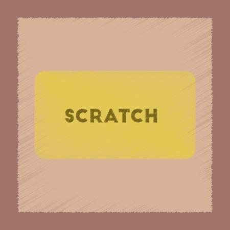 평면 음영 스타일 아이콘 포커 스크래치 카드 일러스트