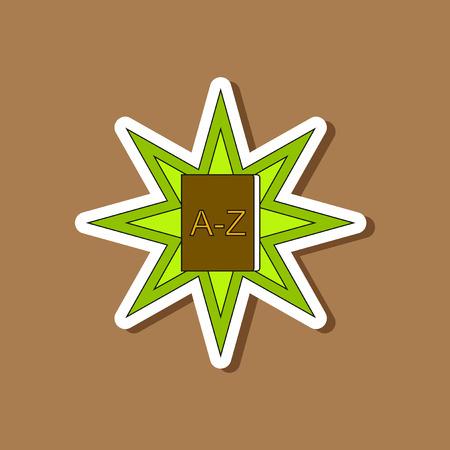 paper sticker on stylish background of alphabet book Illustration